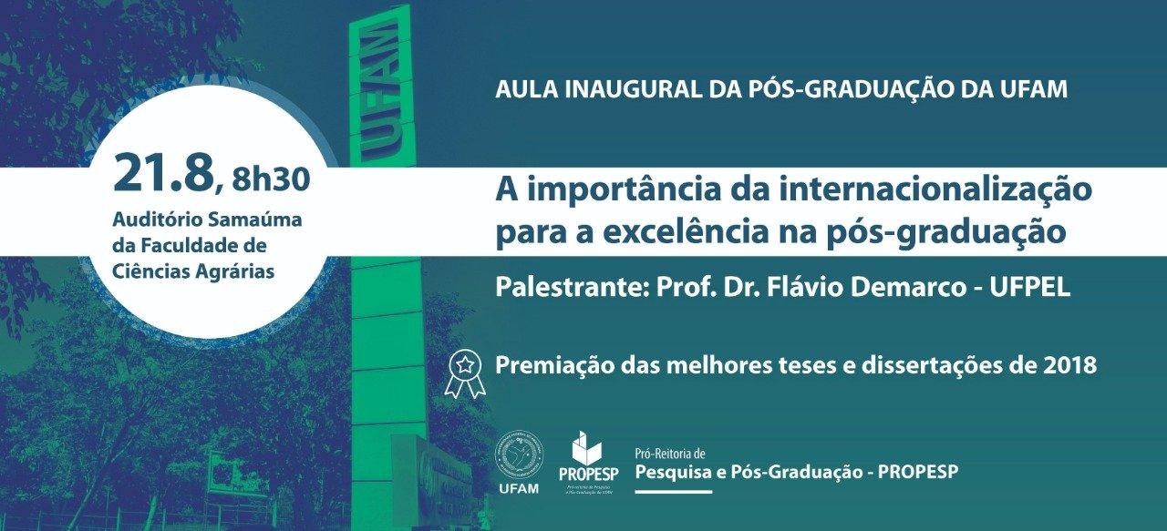 Aula Inaugural da Pós-Graduação da Ufam
